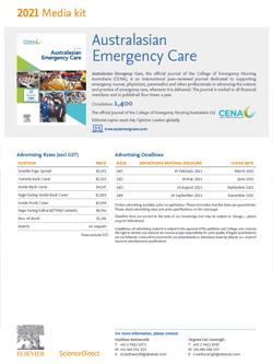 Australasian Emergency Care Media Kit